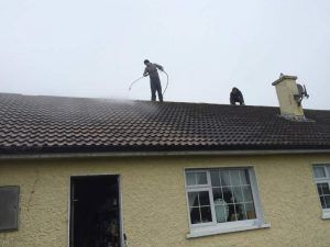 Roof cleaning prior to sealing